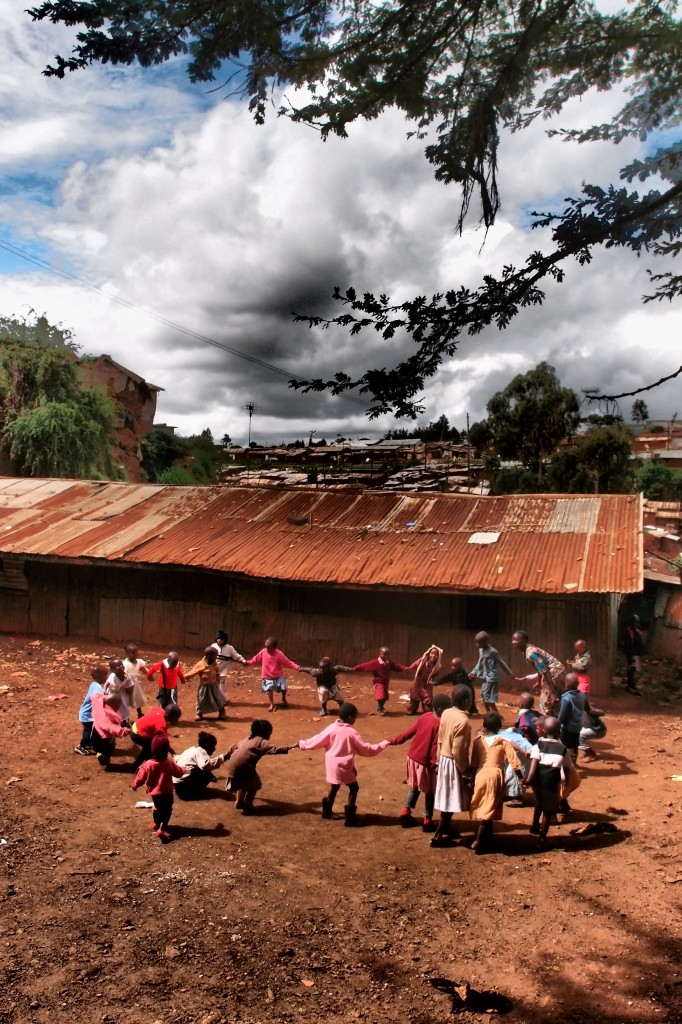 Children at Angels of Hope Kibera playing at breaktime